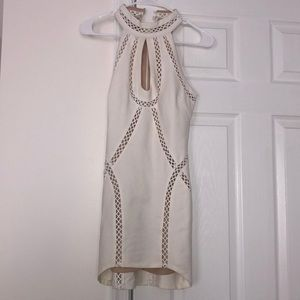 Off white bodycon style homecoming dress